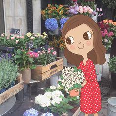 Pretty flowers at Liberty London #libertylondon 🌸  #traveldiaries #illustratorlife #clarevacha #littlebitofpretty #prettyflowers #libertyflowers #🌸 #ilovelondon