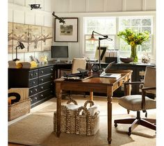 Add color to your home office. The home office should be an ideal space for the development of creativity, Home Office Space, Home Office Design, Home Office Decor, House Design, Home Decor, Office Ideas, Office Furniture, Gothic Furniture, Brown Furniture