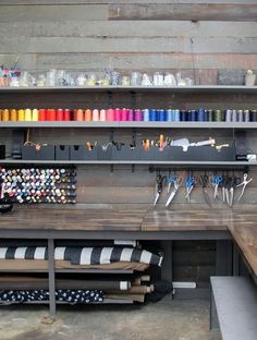 about — ali golden I wish I had a sewing workspace like this!