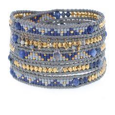 Sodalite Mix Delicate Charm Wrap Bracelet - Chan Luu