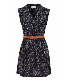 Look what I found on #zulily! Navy & White Zaza Dress #zulilyfinds