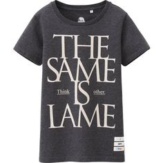 UNIQLO Women I Am Other Graphic Short Sleeve T-Shirt (2.48 CAD) ❤ liked on Polyvore