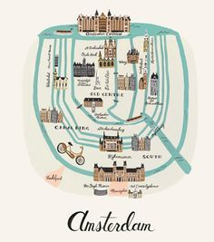 I would love to do something teaching kids things about the city they're visiting/living in --- Amsterdam Print
