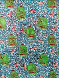 African Fabric Dutch Real Wax Block Print by Africanpremier, $34.99