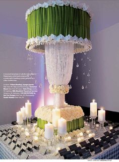 The floral chandelier with calla lily and hanging crystal drops