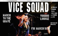 Vice Squad are a female fronted UK Punk Rock band that delivers short sharp songs with incisive lyrics spat out over a thunderous rhythm and machine gun Rock 'n' Roll guitars.    Renowned for their high energy live shows the band deliver their set with passion and humour and have been touring and releasing successful albums since the1980s.