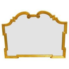 Check out this item at One Kings Lane! 1960s Gilded Italian Scroll Mirror