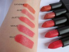 NARS Audacious Lipsticks Part Three - Swatches & Review. Juliette and Kelly are probably clear bright spring. Julie may be light spring.