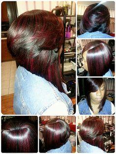 Short hair cut for black women  Quick weave bob blonde hair