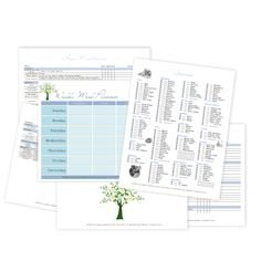 Grocery List, Weekly Menu, Recipes, Home Maintenance Printables for Binder.