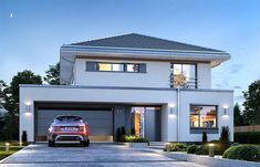 Hurricane - Implementation costs Implementation of an open shell 190 190 00 PLN Implementation of a closed she - Model House Plan, House Plans, Two Story House Design, Cast Iron Cookware, Architecture Design, Diys, How To Plan, Mansions, House Styles