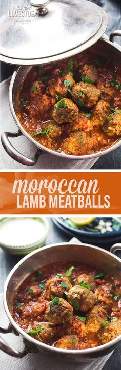 Moroccan Lamb Meatballs { thegirllovestoeat… } Source by sfours Lamb Recipes, Meat Recipes, Cooking Recipes, Healthy Recipes, Recipes Dinner, Healthy Sauces, Healthy Food, Lamb Meatballs, Lamb Dishes