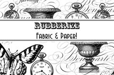 Tutorial: Rubberize Paper and Fabric! Free collage download.