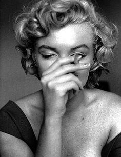 Marilyn Monroe, very unusual to ever see her less than perfectly in control of her faculties.