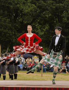 On the left - kilt with red jacket #lennox #red #tartan