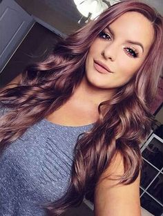 Pretty Chocolate Rose Gold Hair Color Ideas 6