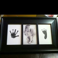 Hand & footprint baby photo frame