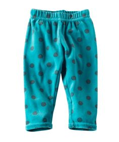 Sweetly patterned in softest plush velour, these polka-dot leggings will be part of her favorite easy outfit for every fun fall moment.  Made in the USA from 100% cotton, and easy to mix and match, no little wardrobe is complete without these little darlings.  Available online at Hallmark Baby.