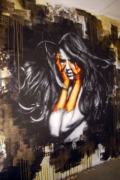 #street #art #girl #orange #streetart