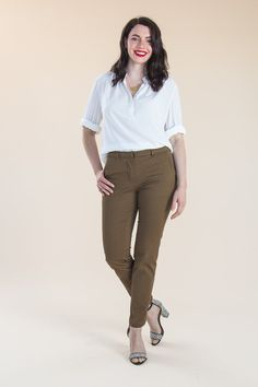 cf7d8823d0 The Sasha Trousers Sewing Pattern - Closet Case Patterns - Available on The  Fold Line