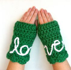 Handmade Fingerless Gloves - cute idea {crochet inspiration}