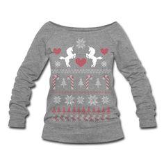 I NEED THIIIIIIIIIIIIIIIIIIIS! :-D  Ugly Christmas Sweater Unicorn Shirt Sweatshirt | Spreadshirt | ID: 13899420