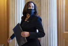 Vice President-elect Kamala Harris returned to Capitol Hill Friday to first vote for a large defense bill that would strip the names of Confederates from military bases Daily Mail News, Bill And Hillary Clinton, Unknown Soldier, University Of Connecticut, Democratic Senators, Culture War, Asian American, Kamala Harris, Vice President