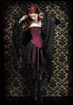 Delilah Dramatic Gothic Sleeves Gloves or Arm by rosemortem