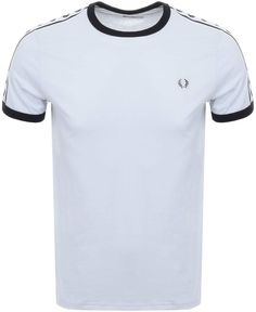 Fred Perry Taped Ringer T Shirt Blue Fashion Wear, Mens Fashion, Fred Perry, Men's Clothing, Footwear, Victoria, Casual, Mens Tops, T Shirt