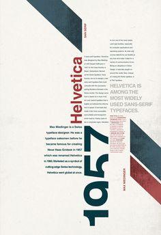 Helvetica Type Poster on Behance Helvetica Typ Poster im Auftrag dEsIgN Creative Poster Design, Graphic Design Posters, Graphic Design Typography, Graphic Design Inspiration, 3d Typography, Minimal Graphic Design, Interaktives Design, Buch Design, Game Design