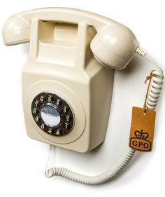 Unieke retro telefoon in een muur monteerbare versie.
