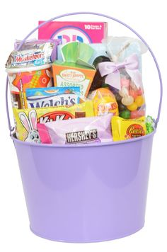 Fully Assembled Gourmet Easter Gift Basket Including Candy - Chocolate - Fillers - Easter Grass