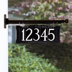54c99b00c23d 4 Inch Number Hanging Plaque House Address Sign, Address Plaque, Address  Signs, Black