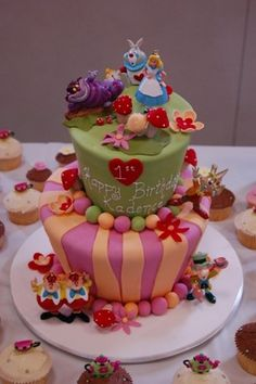 aliceinwonderlandcake by liezl_delcastillo, via Flickr