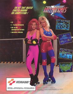 A rare case of female models on an arcade flyer actually bearing some relation to the game.