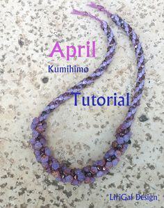 Tutorial April Kumihimo Flowers Necklace PDF by Lirigal on Etsy