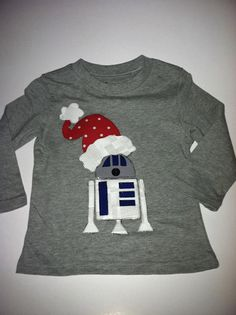 Boys christmas applique shirt R2D2,reindeer,christmas truck