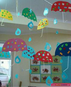 Wonderful Photographs preschool centers science Concepts Setting up facilities with preschool as well as kindergarten sessions could be a quite time consuming task. Autumn Crafts, Spring Crafts, Kindergarten Art, Preschool Activities, Preschool Centers, Rain Crafts, Weather Crafts, School Decorations, Paper Crafts For Kids
