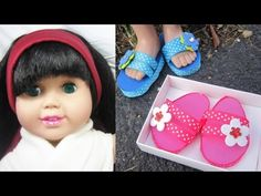 Here's a excellent video tutorial showing how to make flipflops for your 18 inch dolls like American Girl