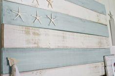 Coastal-Style, Distressed Wood Flag Tutorial | The Lettered Cottage #beachcottagesbedroom