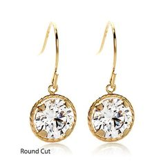 Shop Victoria Wieck 2ct Absolute™ 14K Gold Dangle Earrings, read customer reviews and more at HSN.com.
