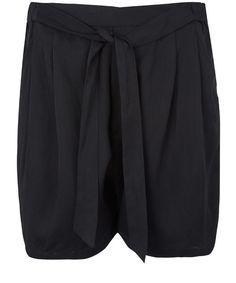 Filippa K Black Pleated City Shorts