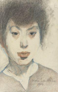 Marie Laurencin. Self-Portrait. 1906