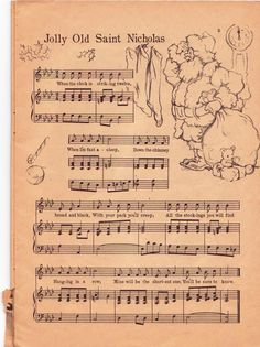 Vintage song sheet