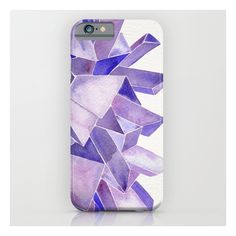 Amethyst Watercolor iPhone 6s Case (325 SEK) ❤ liked on Polyvore featuring accessories, tech accessories and iphone & ipod cases