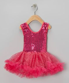 Take a look at this Fuchsia Sequin Dress - Toddler & Girls by My Princess Academy on #zulily today!