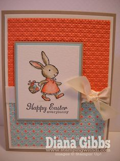 """Everybunny,"" stamps,""Everyday Enchantment"" paper, Stampin Up"
