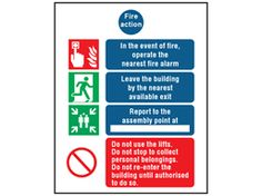 Part of our mandatory safety sign range, to instruct staff or other building users of actions to be taken on discovering a fire, by operating the fire alarm,. Fire Safety, Adhesive Vinyl, Action, Plastic, Signs, Fire, Group Action, Shop Signs, Sign