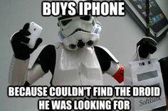 Stormtrooper loves iPhone