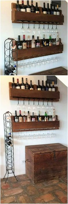 On the last we would bring about the wine rack designing piece of wood pallet for your house. Such structure artwork designs will look fantastic in your homes if it is being comprised with the wine bar counter areas. It do feature the portions of locating wine bottles at the best.